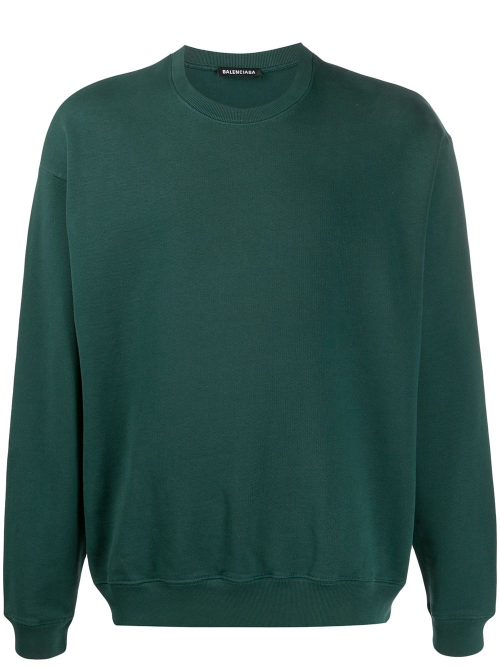 Balenciaga Sweatshirt mit Logo-Print - Grün
