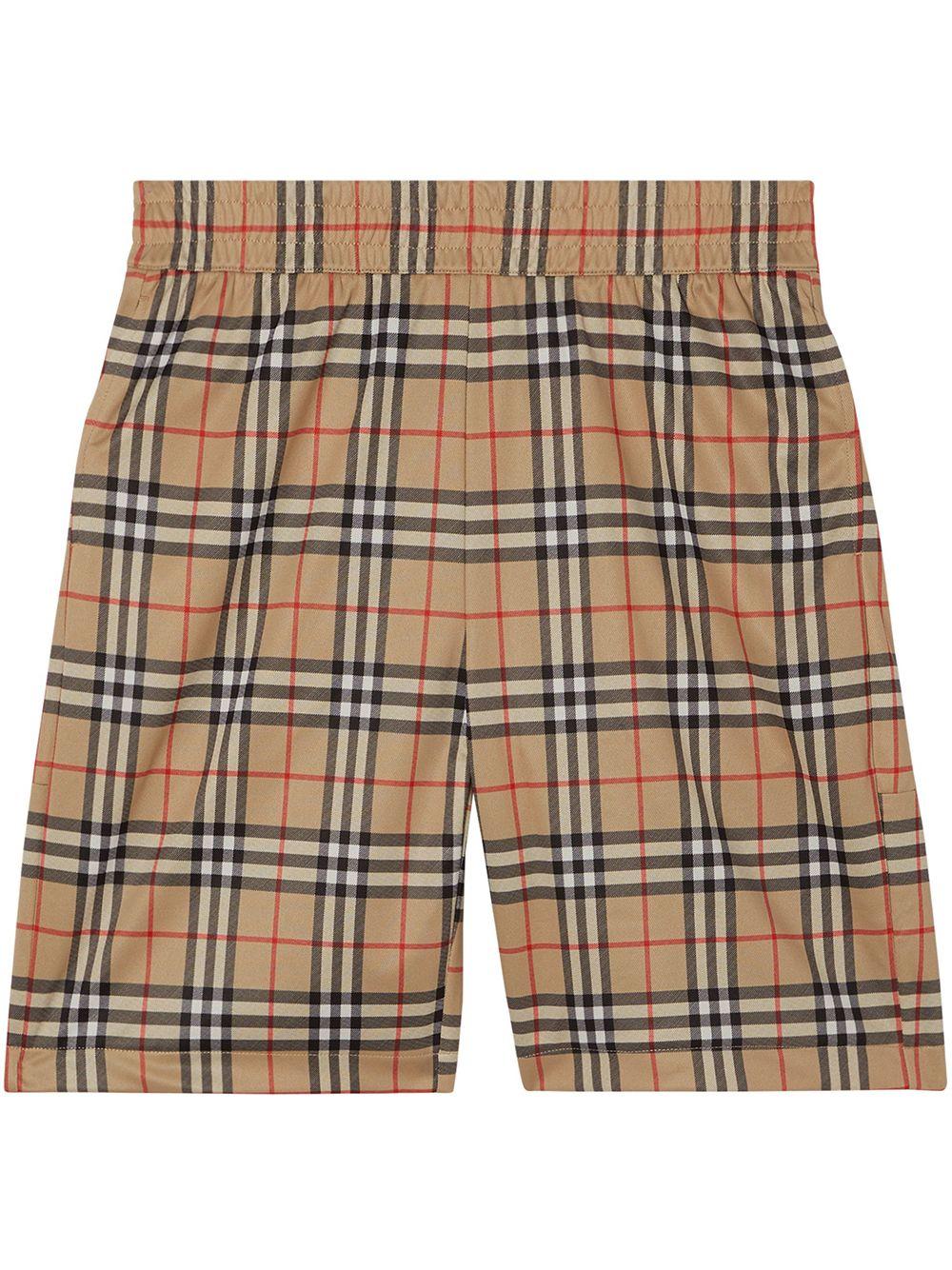 Burberry Karierte Shorts - Nude