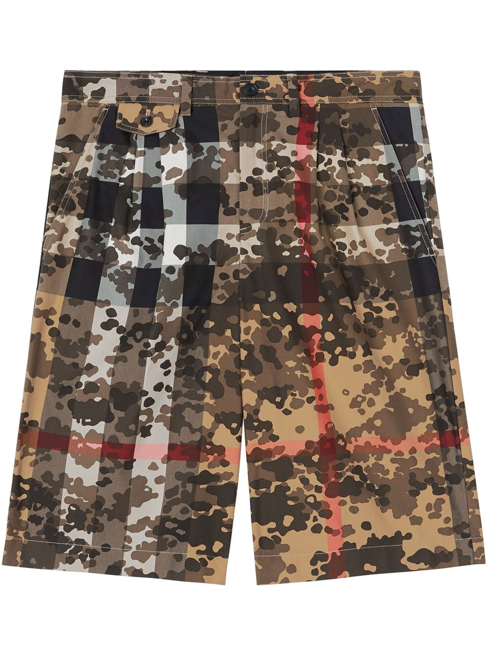 Burberry Shorts mit Camouflage-Check - Braun