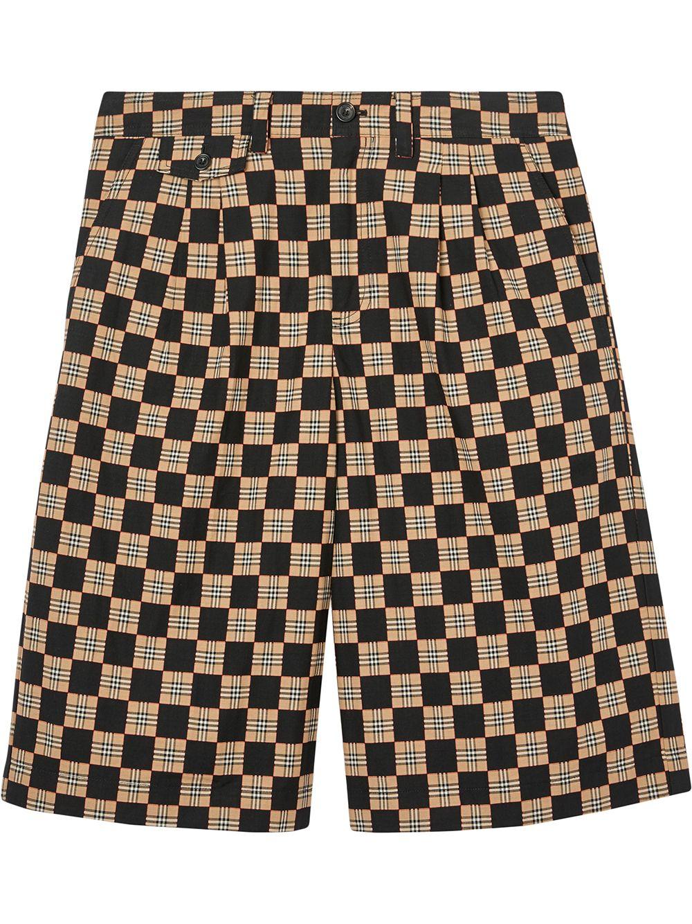 Burberry Shorts mit Schachbrettmuster - Braun