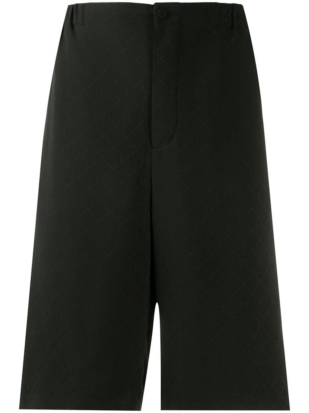 Gucci Shorts mit Logo-Jacquardmuster - Schwarz