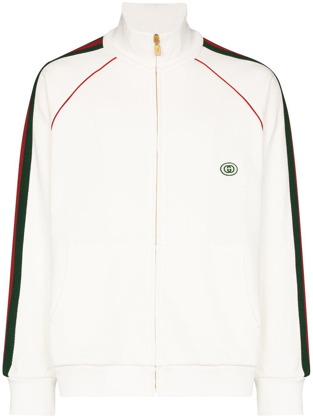 Gucci Sportjacke mit Webstreifen - Weiß