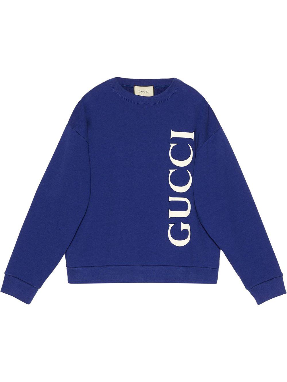 Gucci Sweatshirt mit Logo-Print - Blau