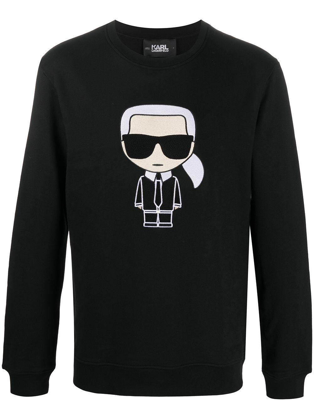 Karl Lagerfeld 'Ikonik Karl' Sweatshirt - Schwarz