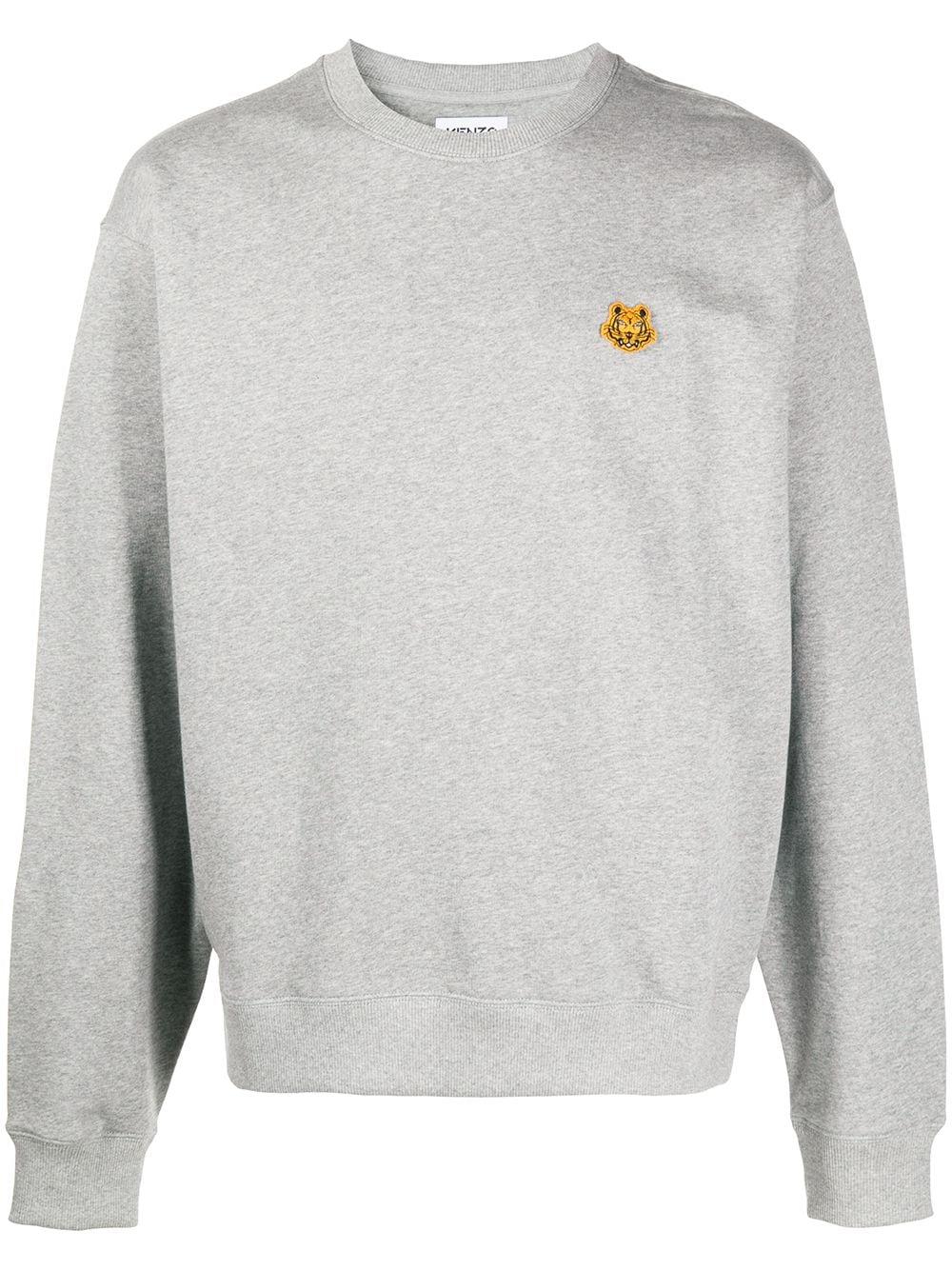 Kenzo Sweatshirt mit Tiger-Patch - Grau