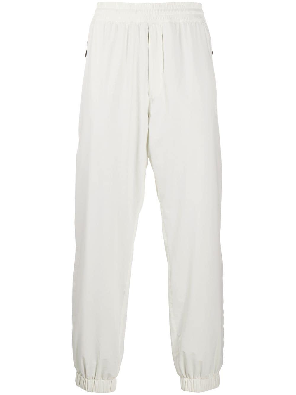 Moncler Grenoble Sporthose mit elastischen Bündchen - Weiß