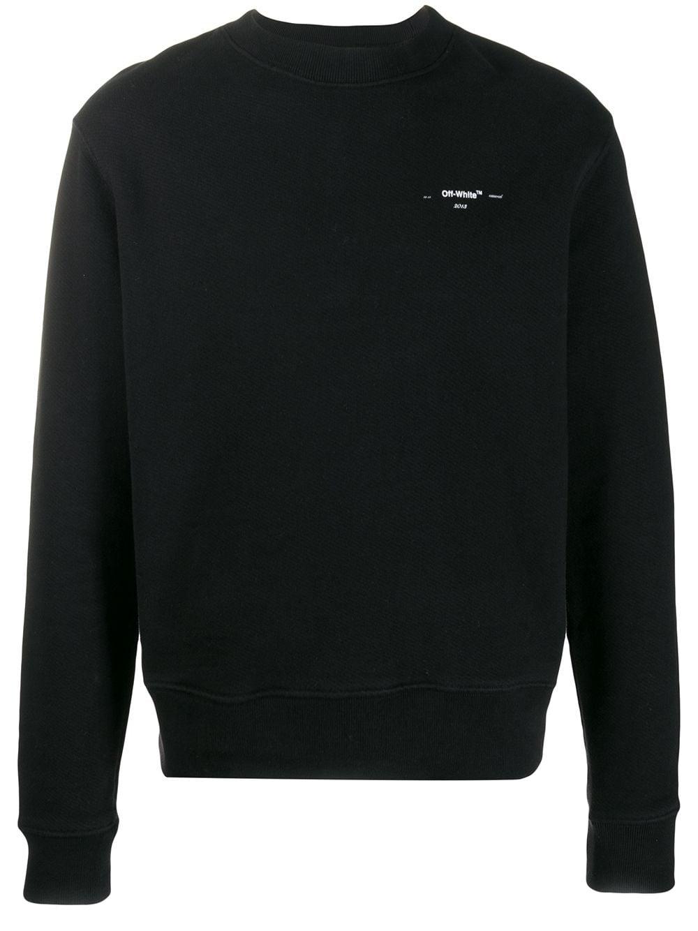 Off-White Schmales Sweatshirt mit Pfeilen - Schwarz