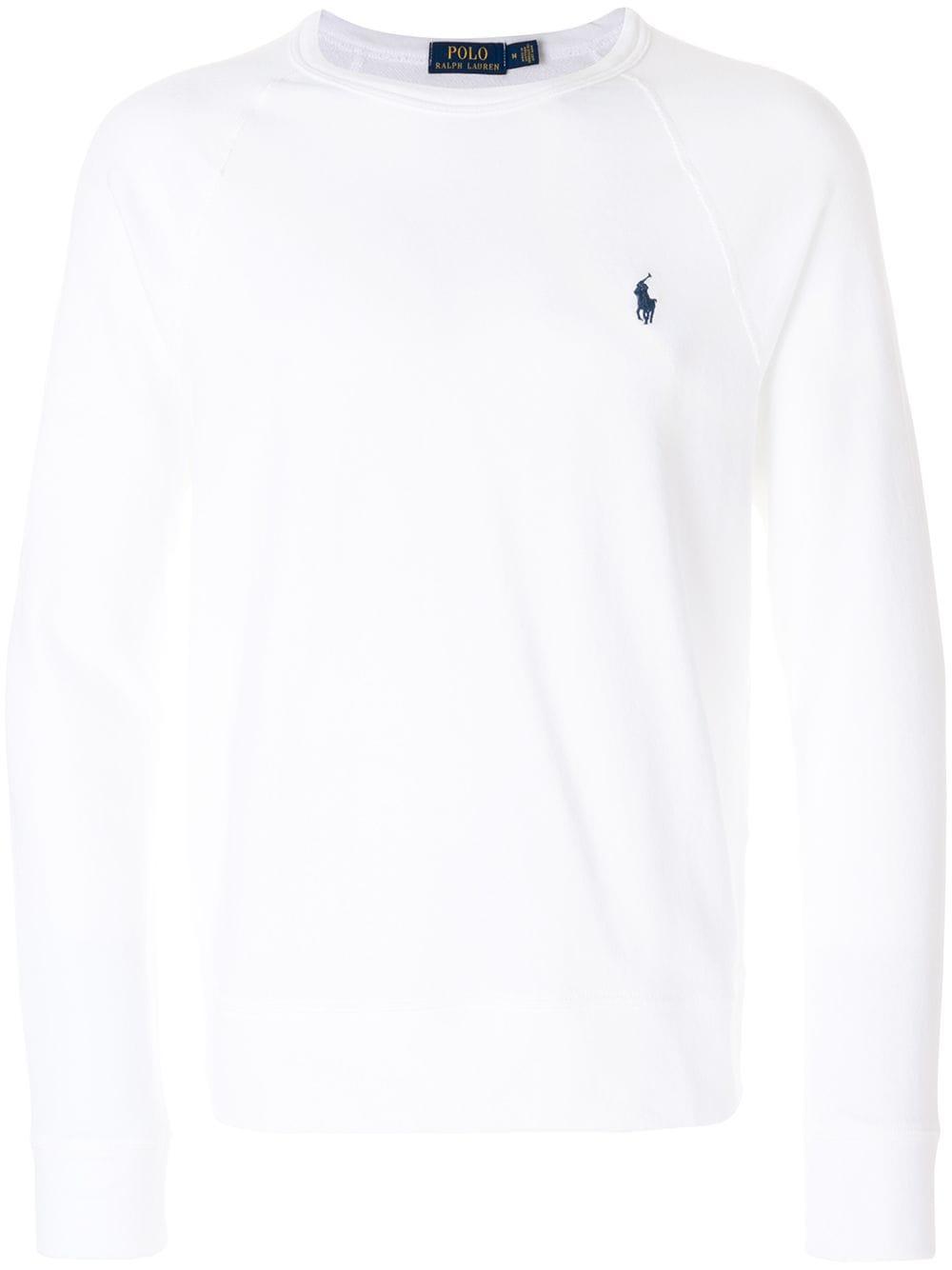 Polo Ralph Lauren Leichtes 'Terry' Sweatshirt - Weiß