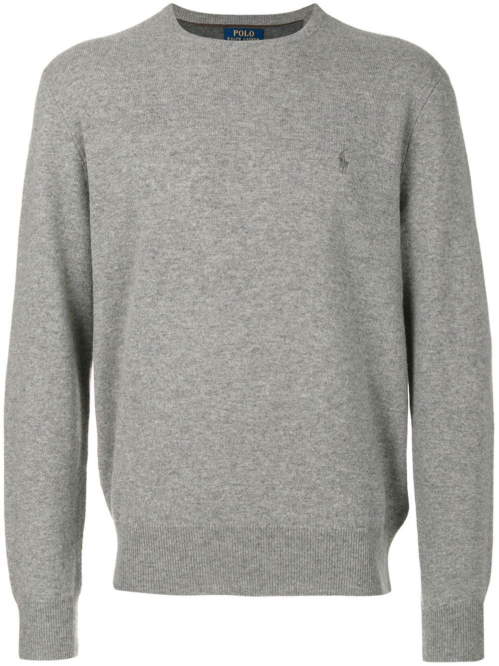 Polo Ralph Lauren Wollpullover mit Logo-Stickerei - Grau