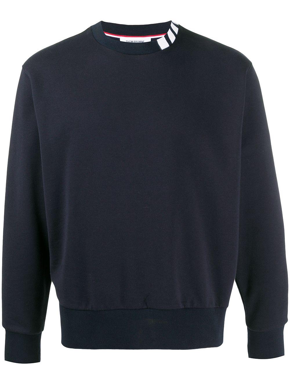Thom Browne Sweatshirt mit Streifendetail - Blau