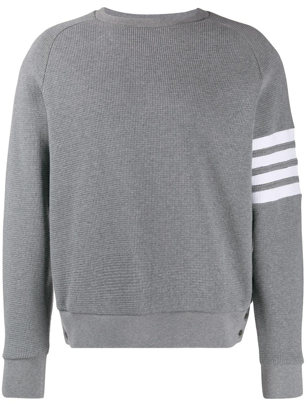 Thom Browne Sweatshirt mit Waffelmuster - Grau