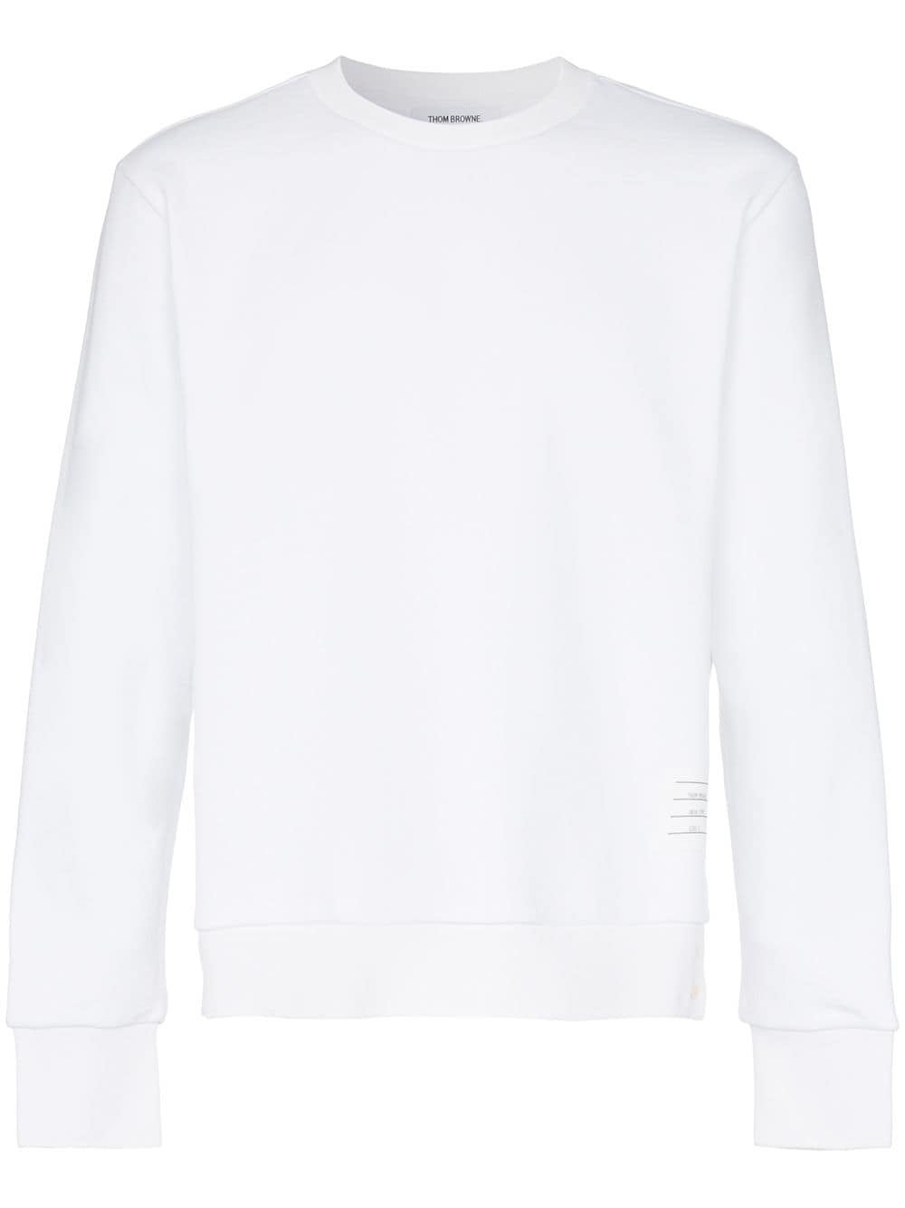 Thom Browne Sweatshirt mit dreifarbigen Streifen - Weiß