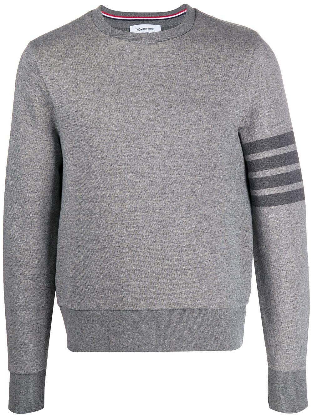 Thom Browne Sweatshirt mit rundem Ausschnitt - Grau