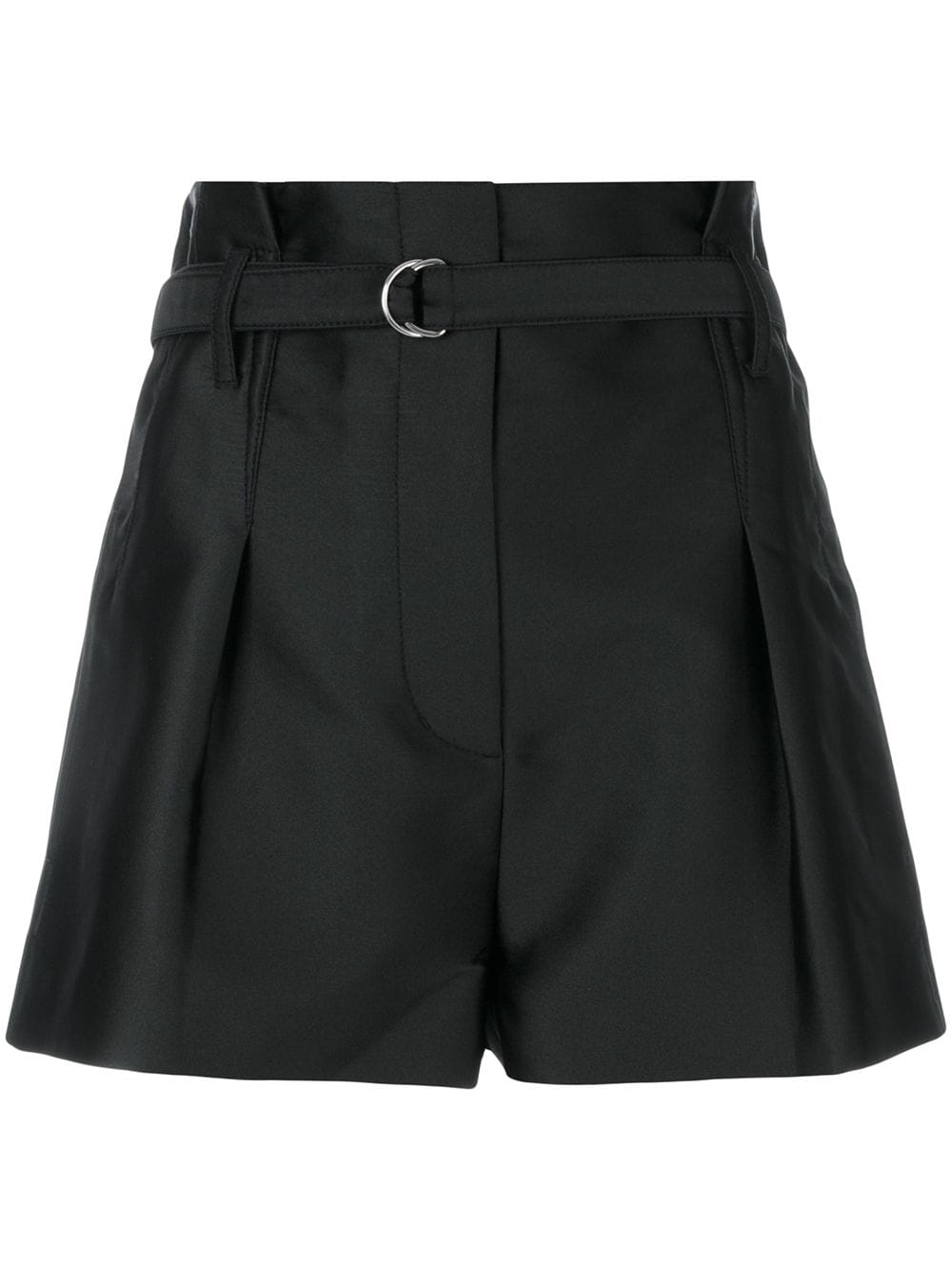 3.1 Phillip Lim 'Origami' Shorts aus Satin - Schwarz