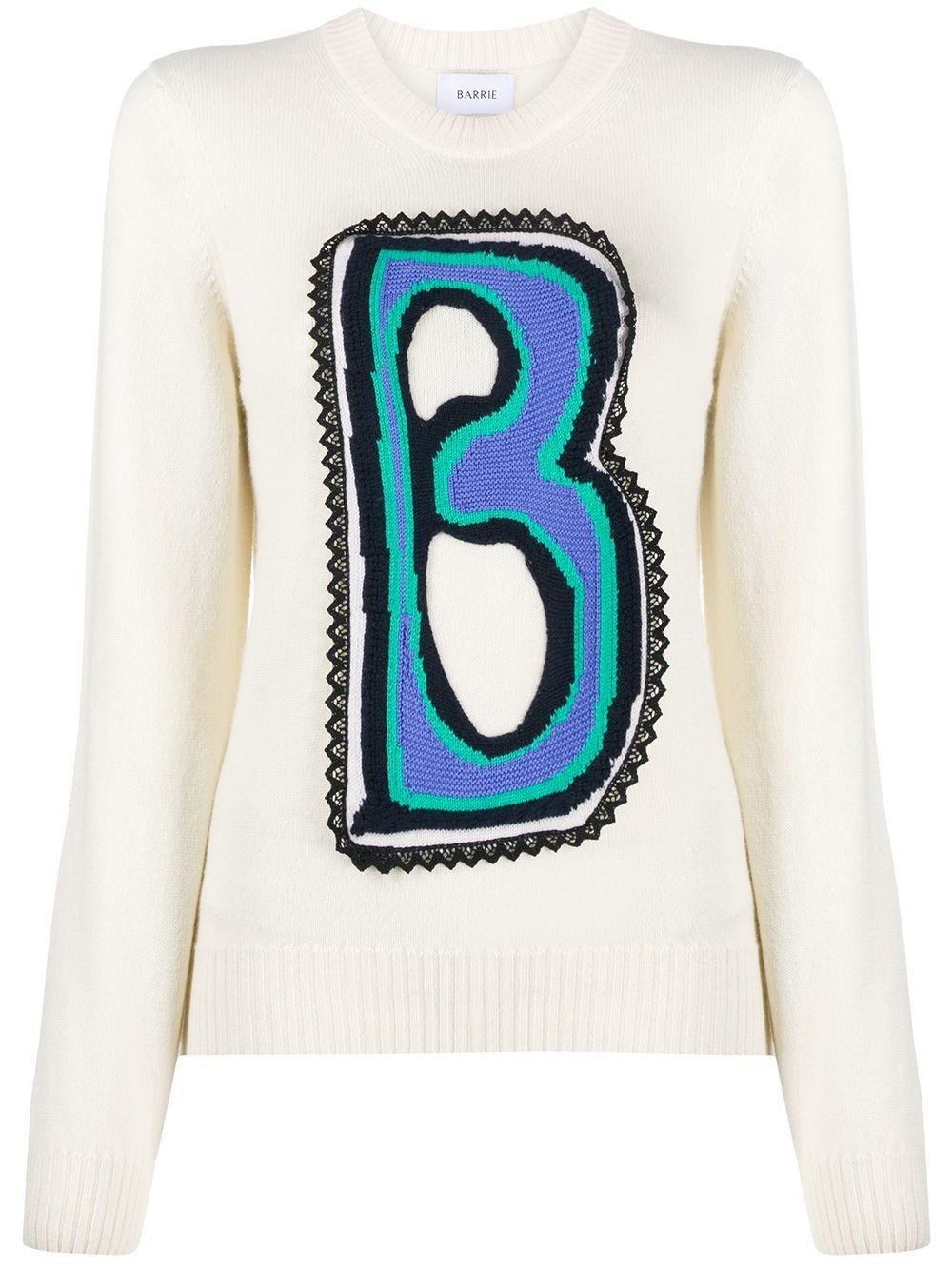 Barrie 'Classic B' Kaschmirpullover - Weiß