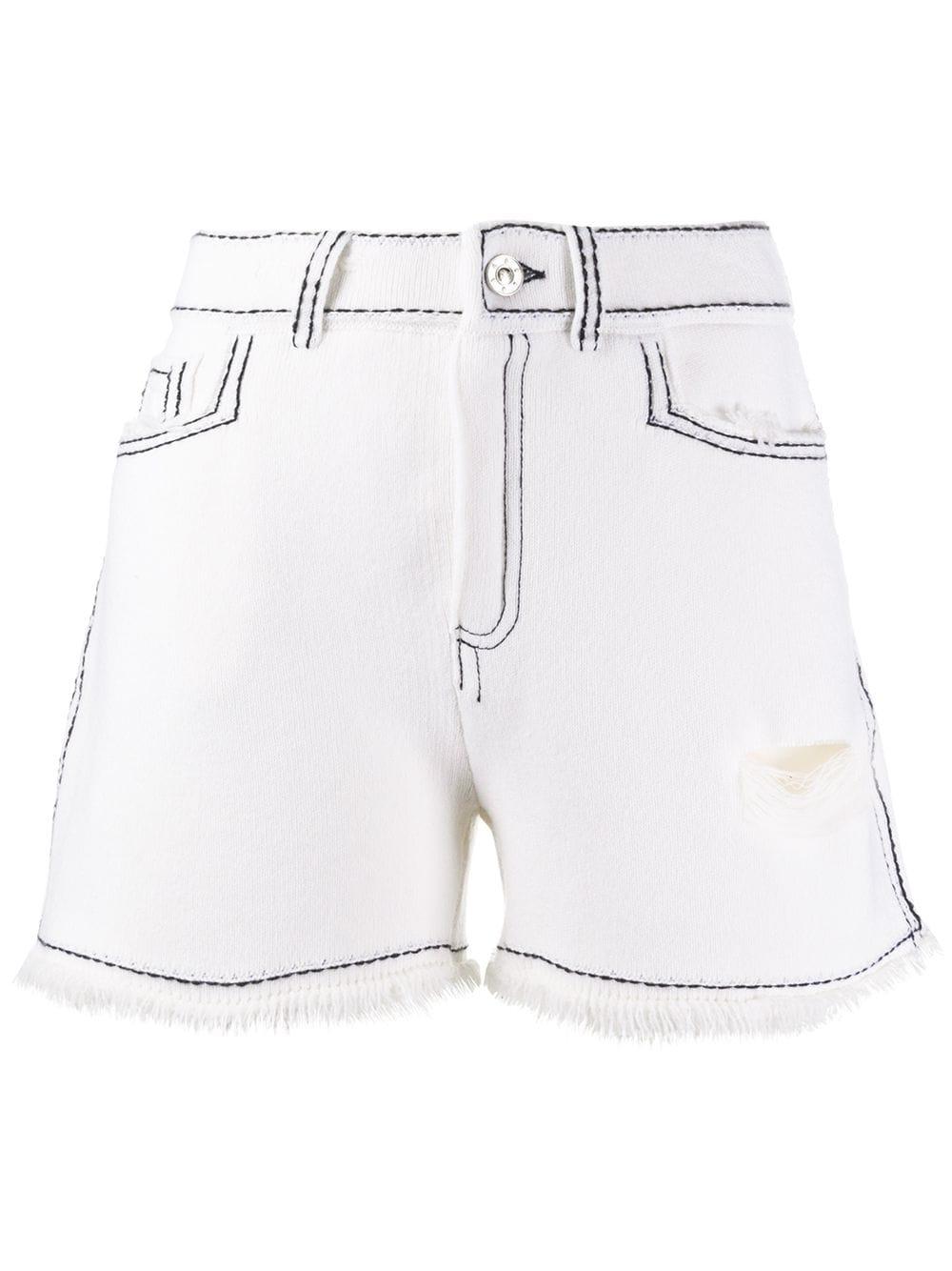 Barrie Shorts mit Ziernähten - Weiß