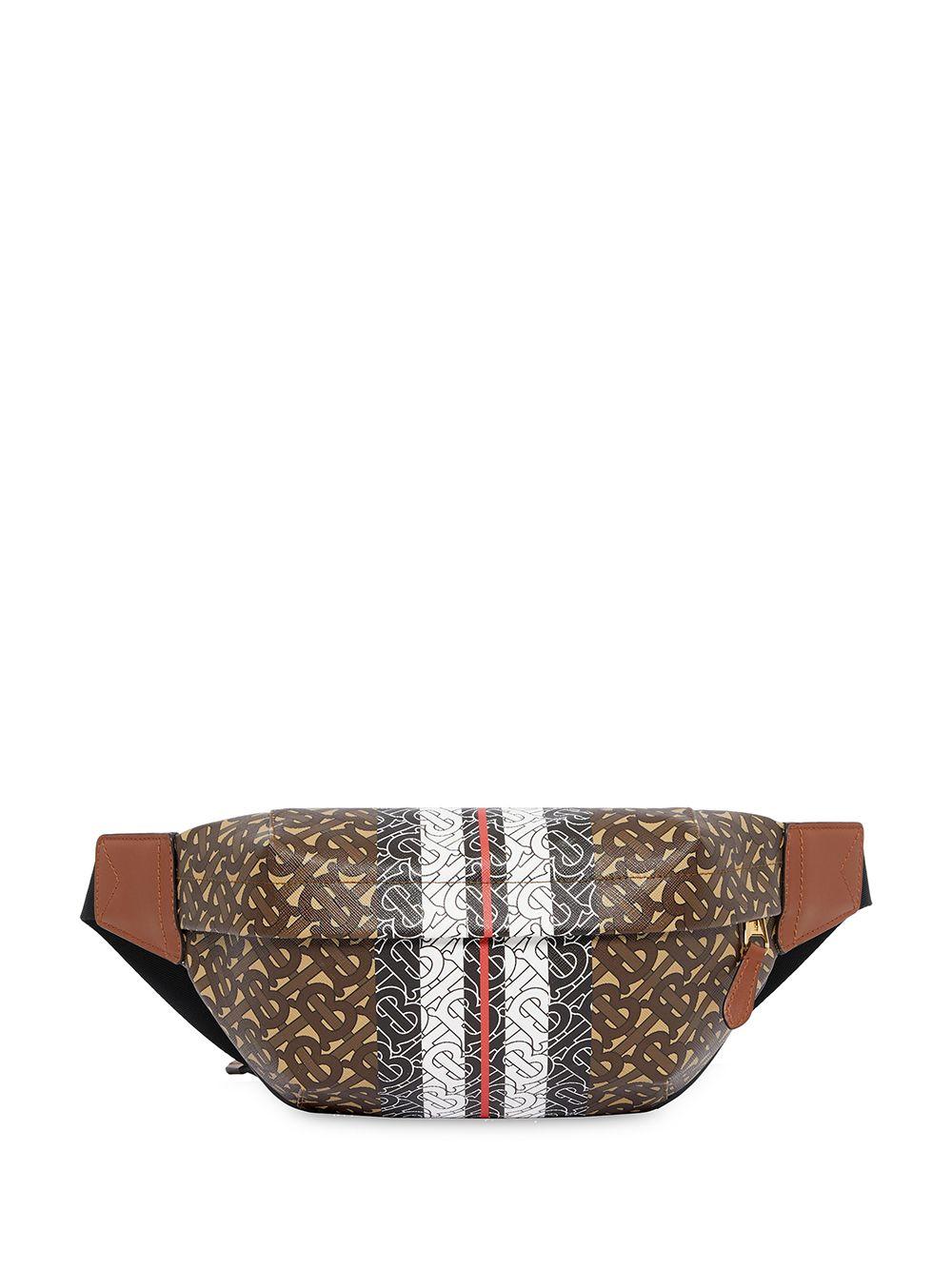 Burberry Mittelgroße Gürteltasche mit Streifen - Braun