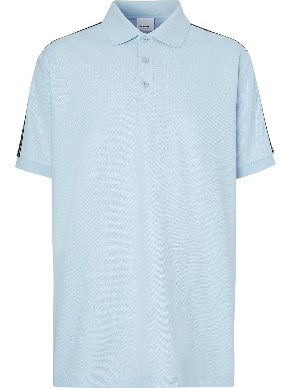 Burberry Poloshirt mit Logo-Streifen - Blau