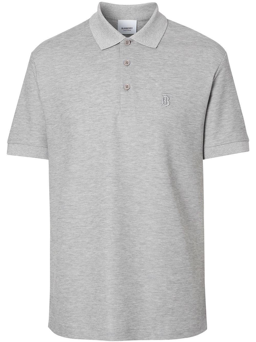 Burberry Poloshirt mit Monogramm - Grau