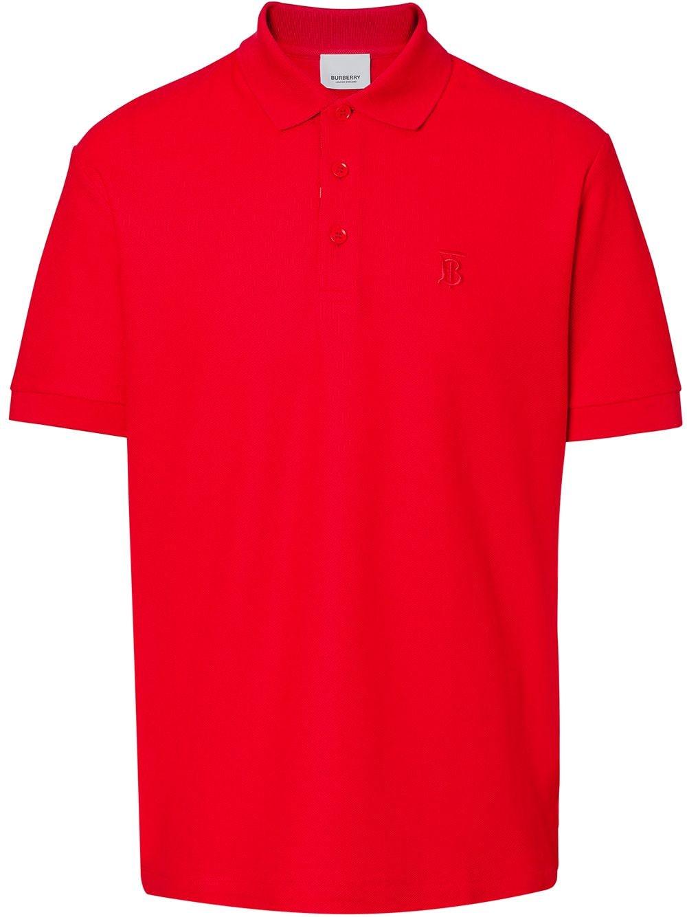 Burberry Poloshirt mit Monogramm - Rot