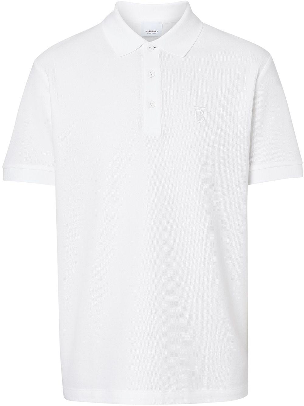 Burberry Poloshirt mit Monogramm - Weiß