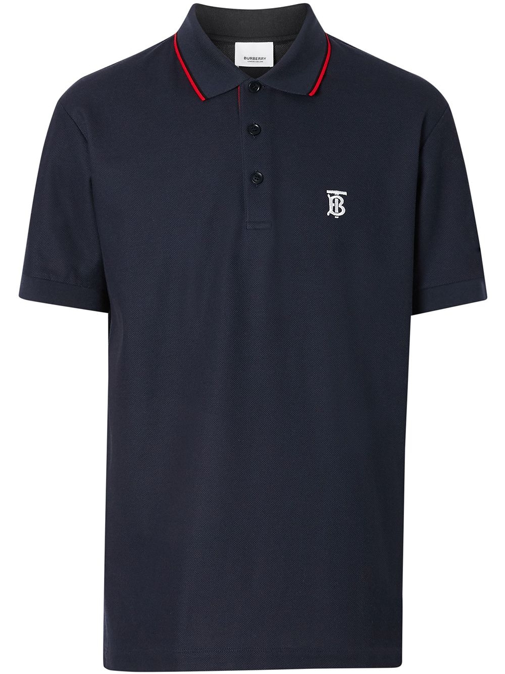 Burberry Poloshirt mit Streifendetails - Blau