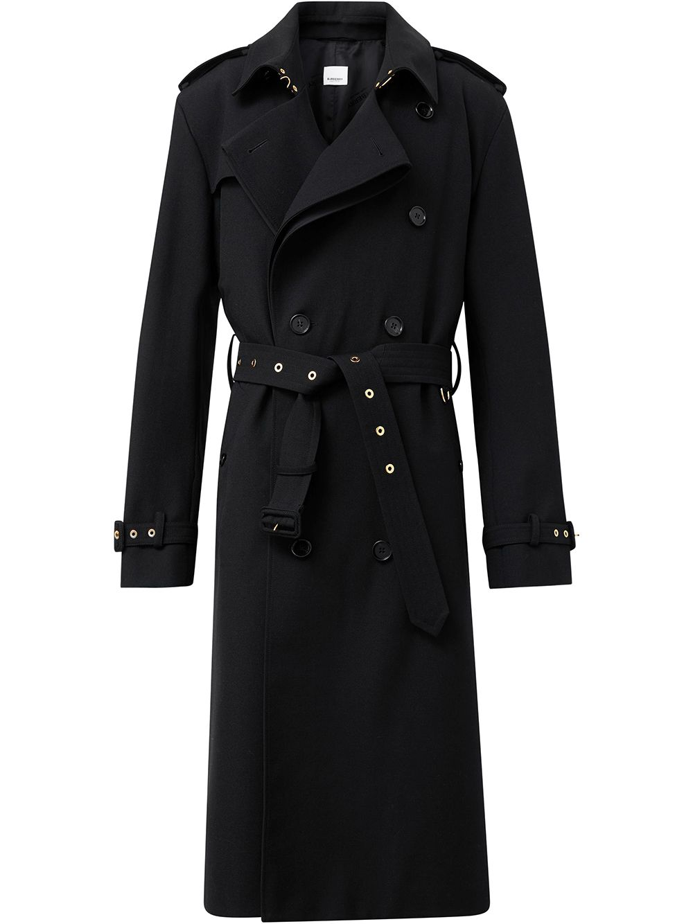 Burberry twill loop-back trench coat - Schwarz