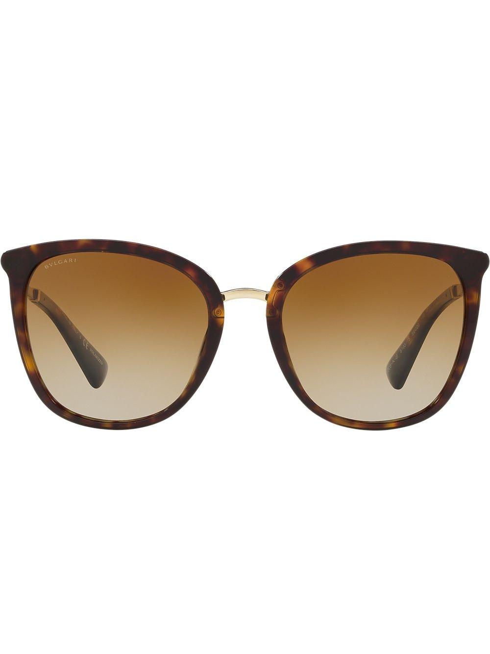 Bvlgari Oversized-Sonnenbrille in Schildpattoptik - Braun