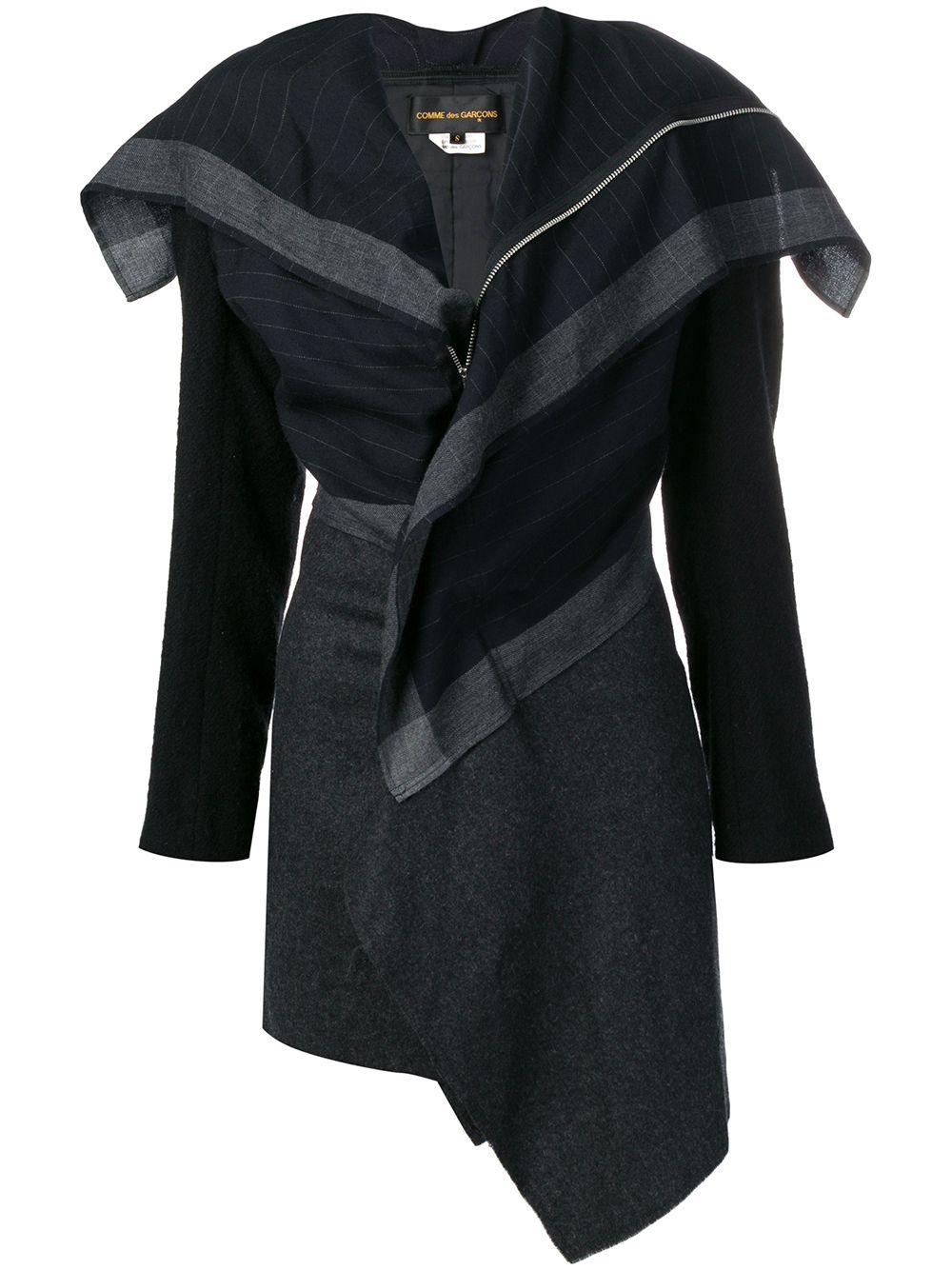 Comme Des Garçons Pre-Owned 2000er Mantel mit Streifen - Blau