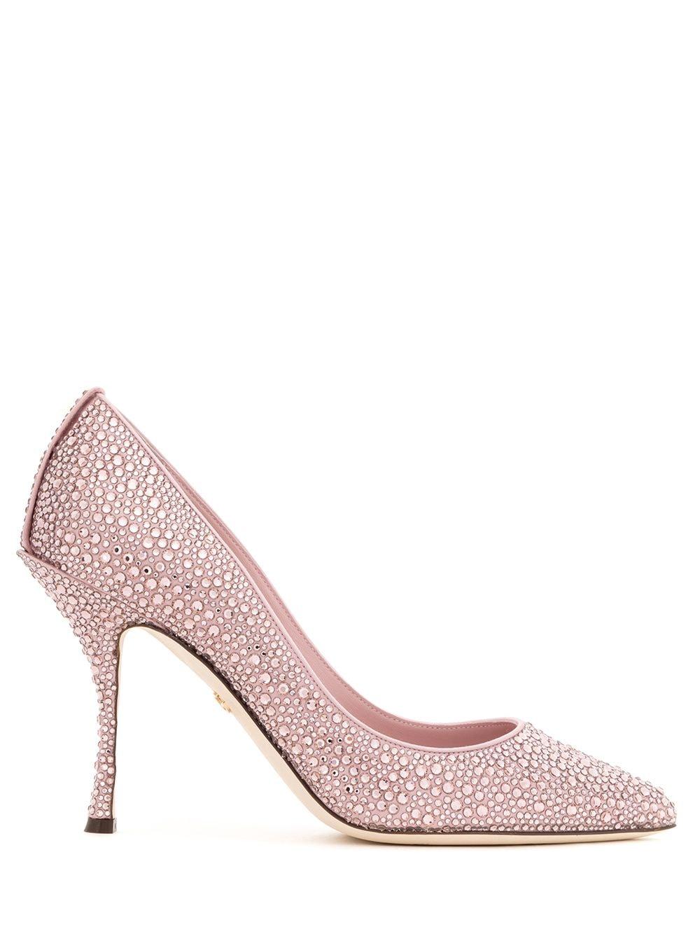 Dolce & Gabbana Pumps mit Kristallen - Rosa