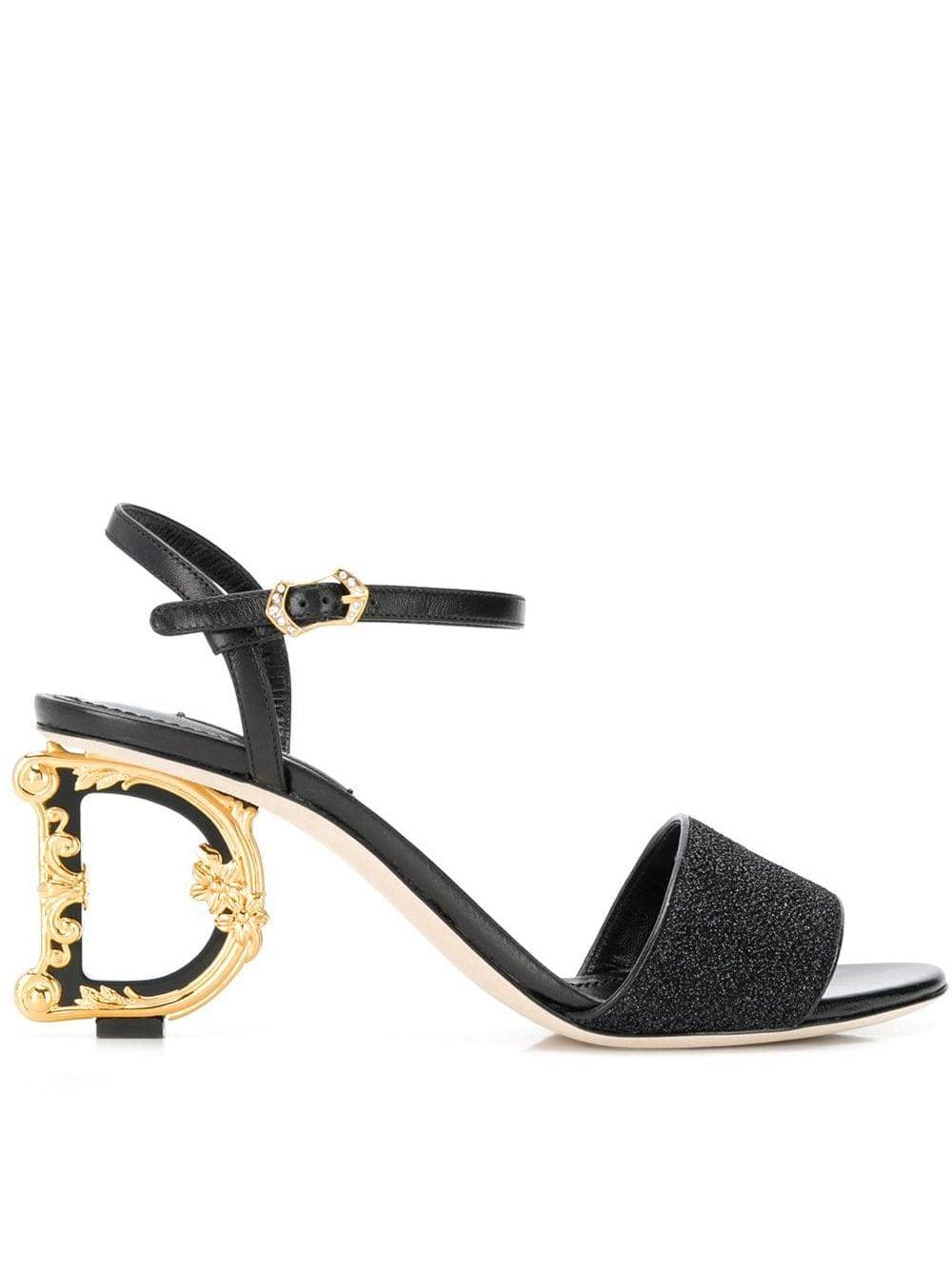 Dolce & Gabbana Sandalen mit Design-Absatz - Schwarz