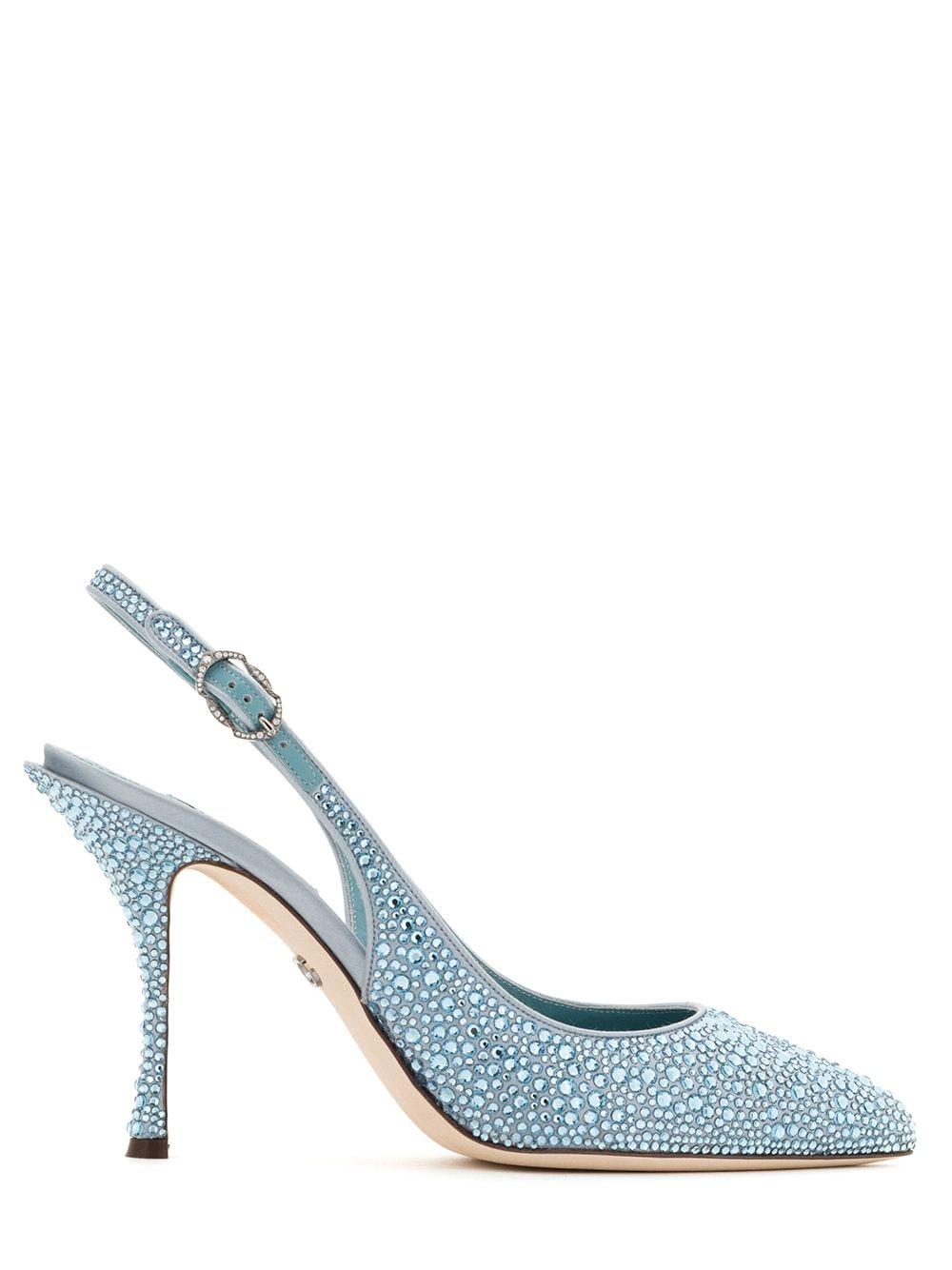 Dolce & Gabbana Spitze Pumps mit Kristallen - Blau