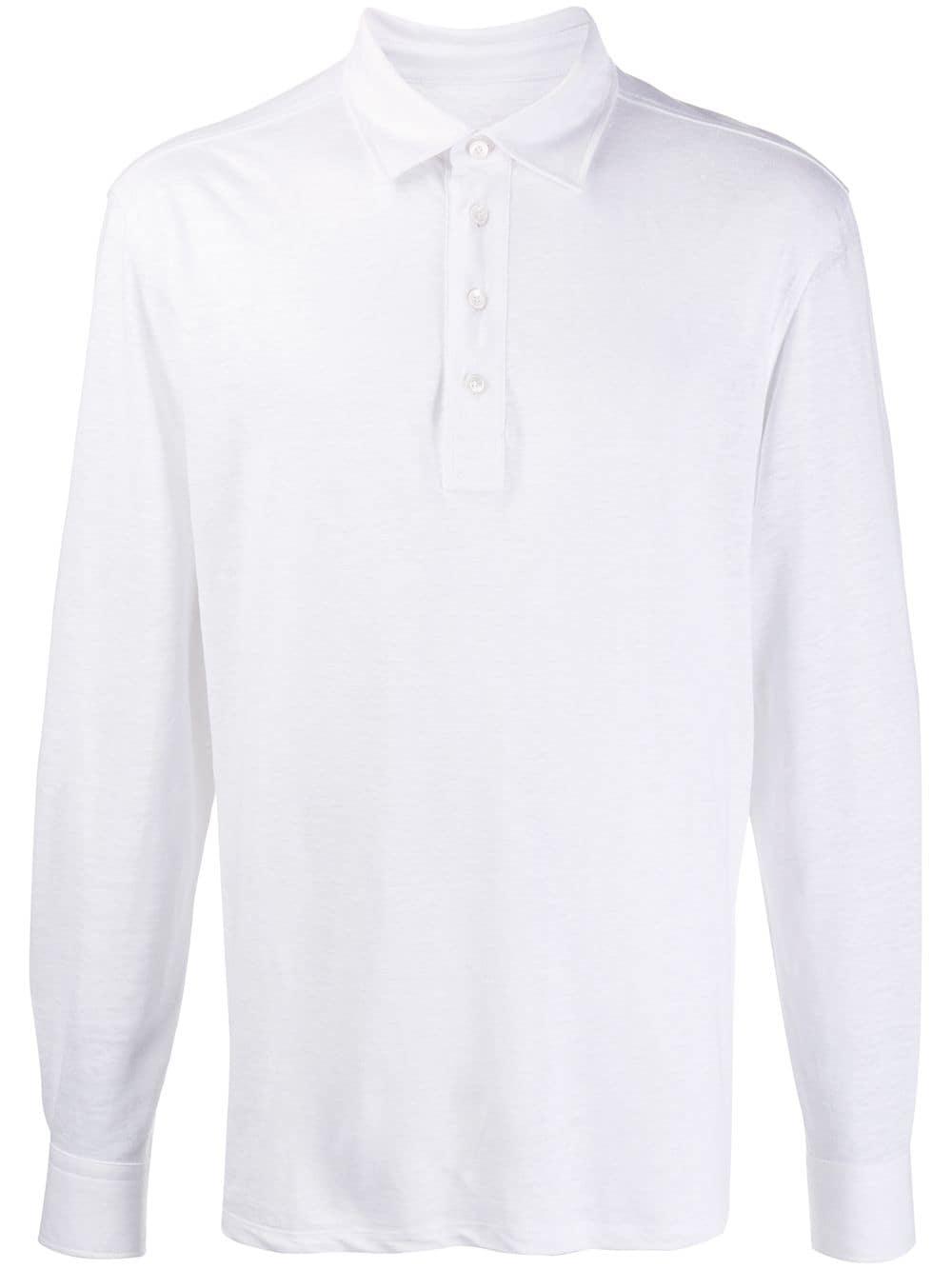Ermenegildo Zegna long-sleeved polo shirt - Weiß