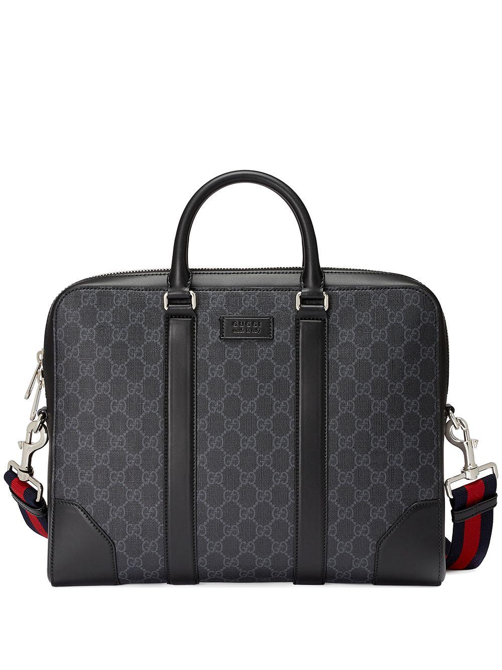 Gucci Aktentasche mit Monogrammmuster - Schwarz