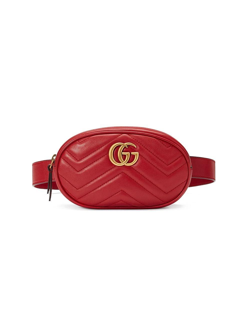 Gucci Gürteltasche mit GG-Detail - Rot