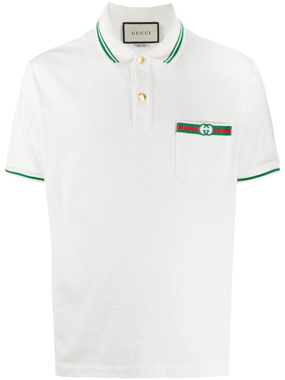 Gucci Klassisches Poloshirt - Weiß