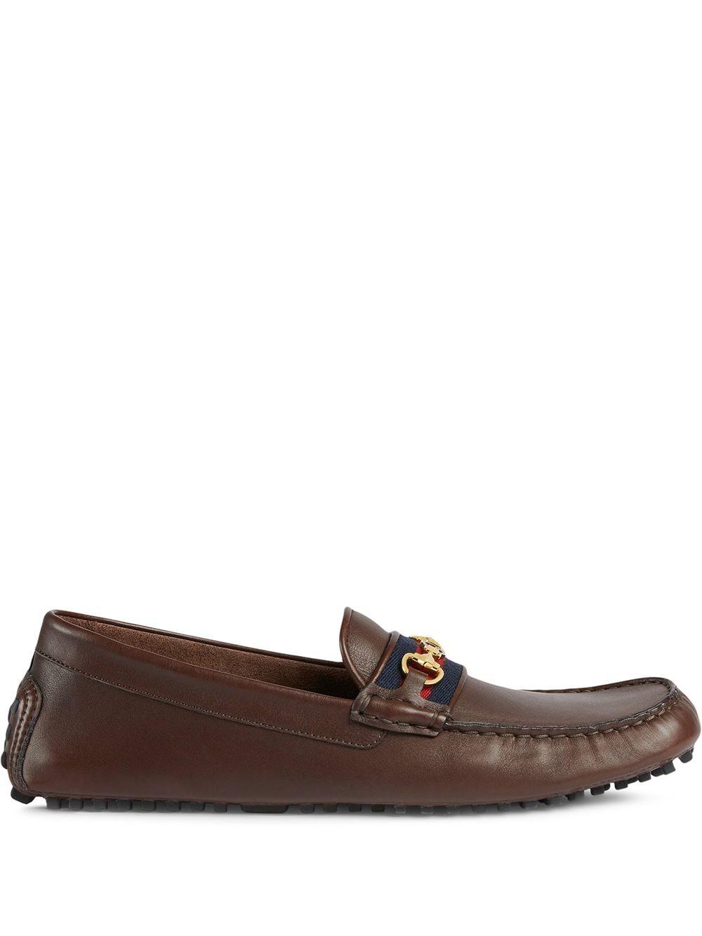 Gucci Loafer mit Webstreifen - Braun