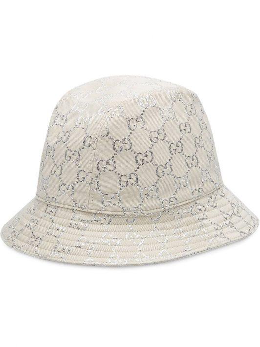 Gucci Metallic-Fischerhut - Weiß