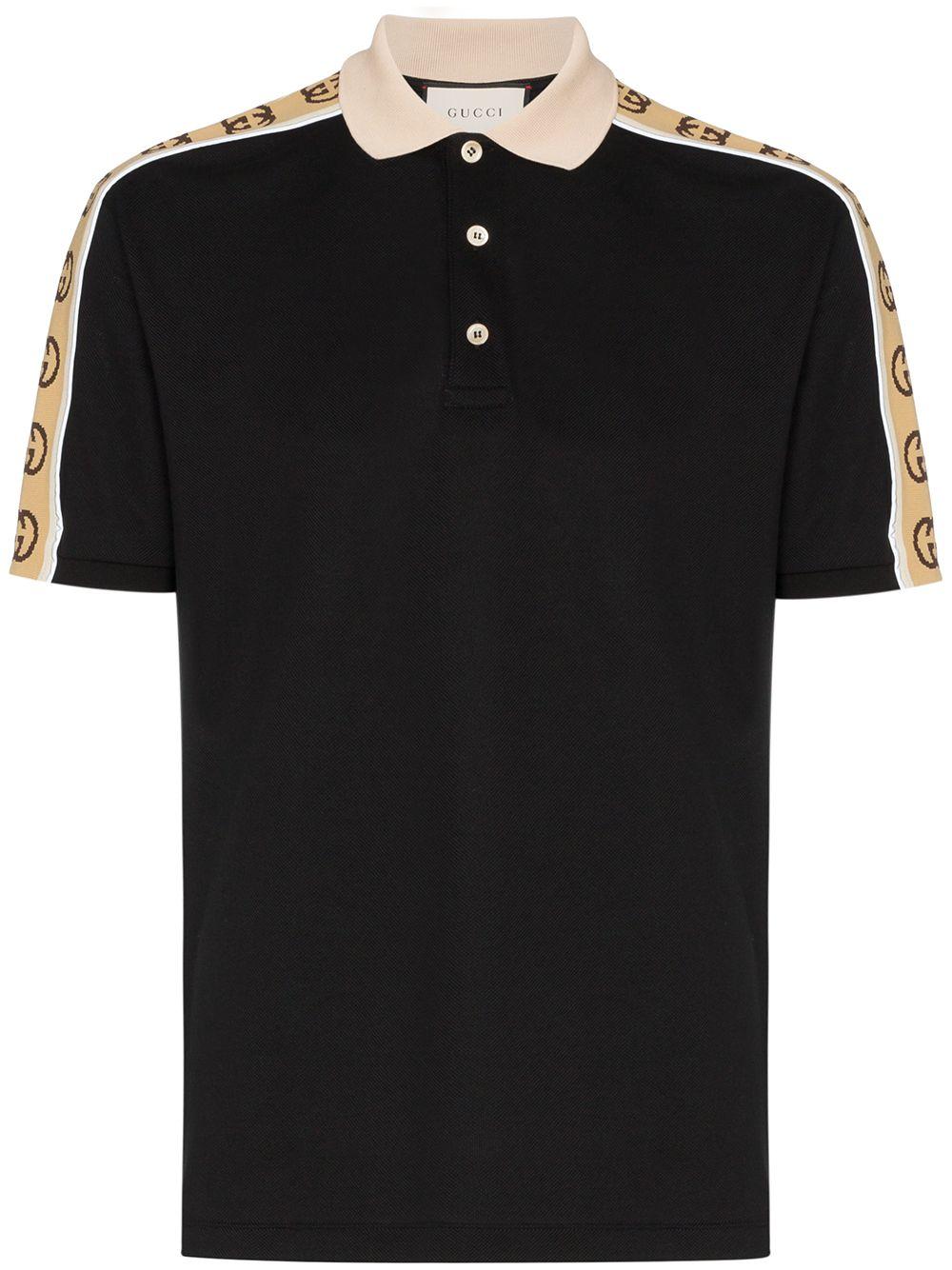 Gucci Poloshirt mit GG-Streifen - Schwarz