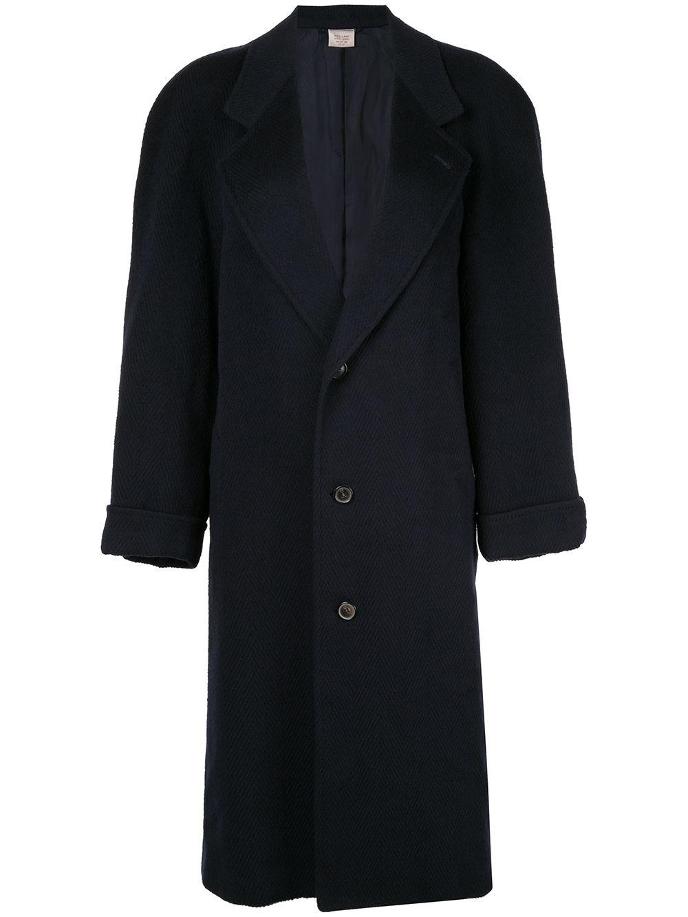 Gucci Pre-Owned Langer Mantel - Blau