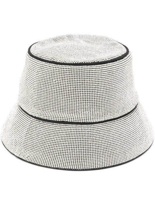 Kara Fischerhut mit Stickerei - Silber