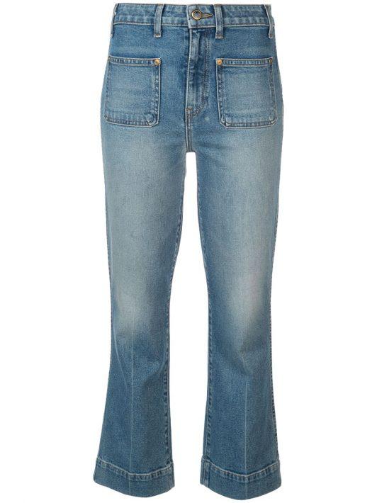 Khaite Jeans mit aufgesetzten Taschen - Blau