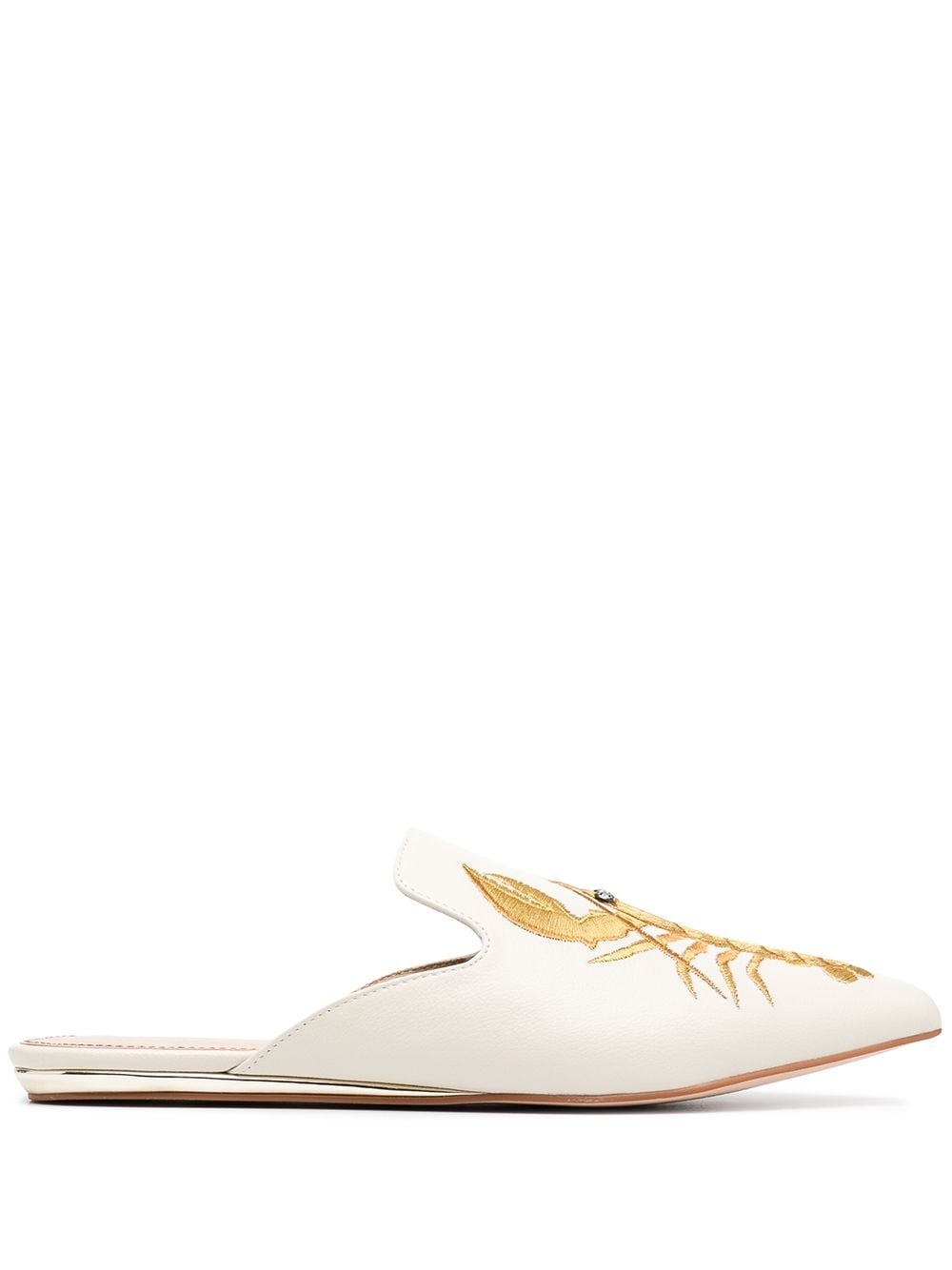 Kurt Geiger London Slipper mit Stickerei - Nude
