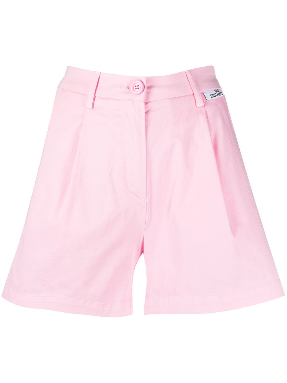 Love Moschino Shorts mit weitem Bein - Rosa