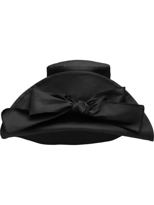 Miu Miu Oversized-Hut mit Schleifenband - Schwarz