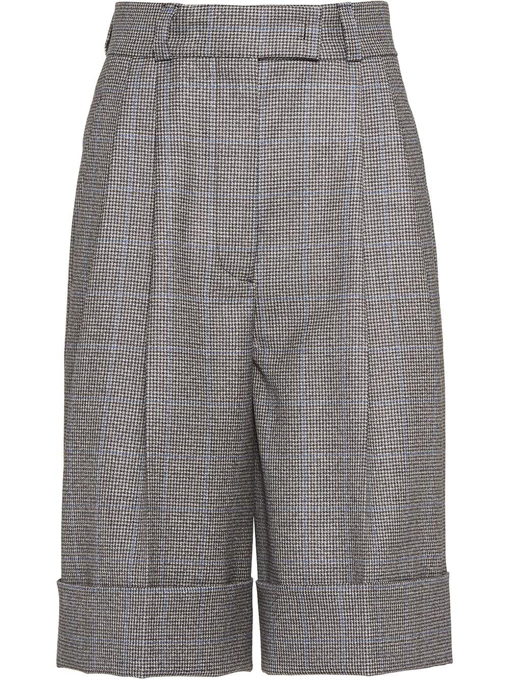 Miu Miu Shorts mit Hahnentrittmuster - Grau