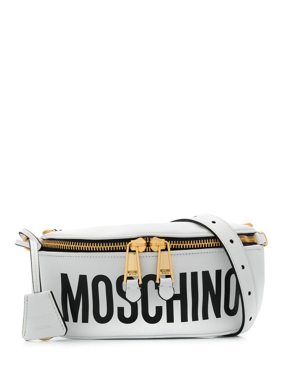 Moschino Gürteltasche mit Logo - Weiß