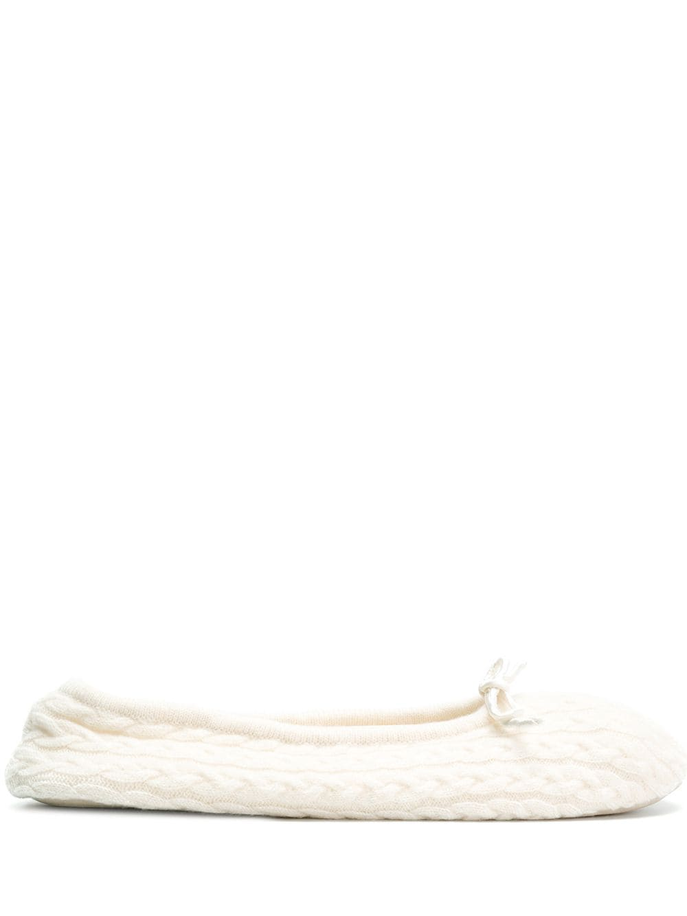 N.Peal Slipper mit Zopfmuster - Nude