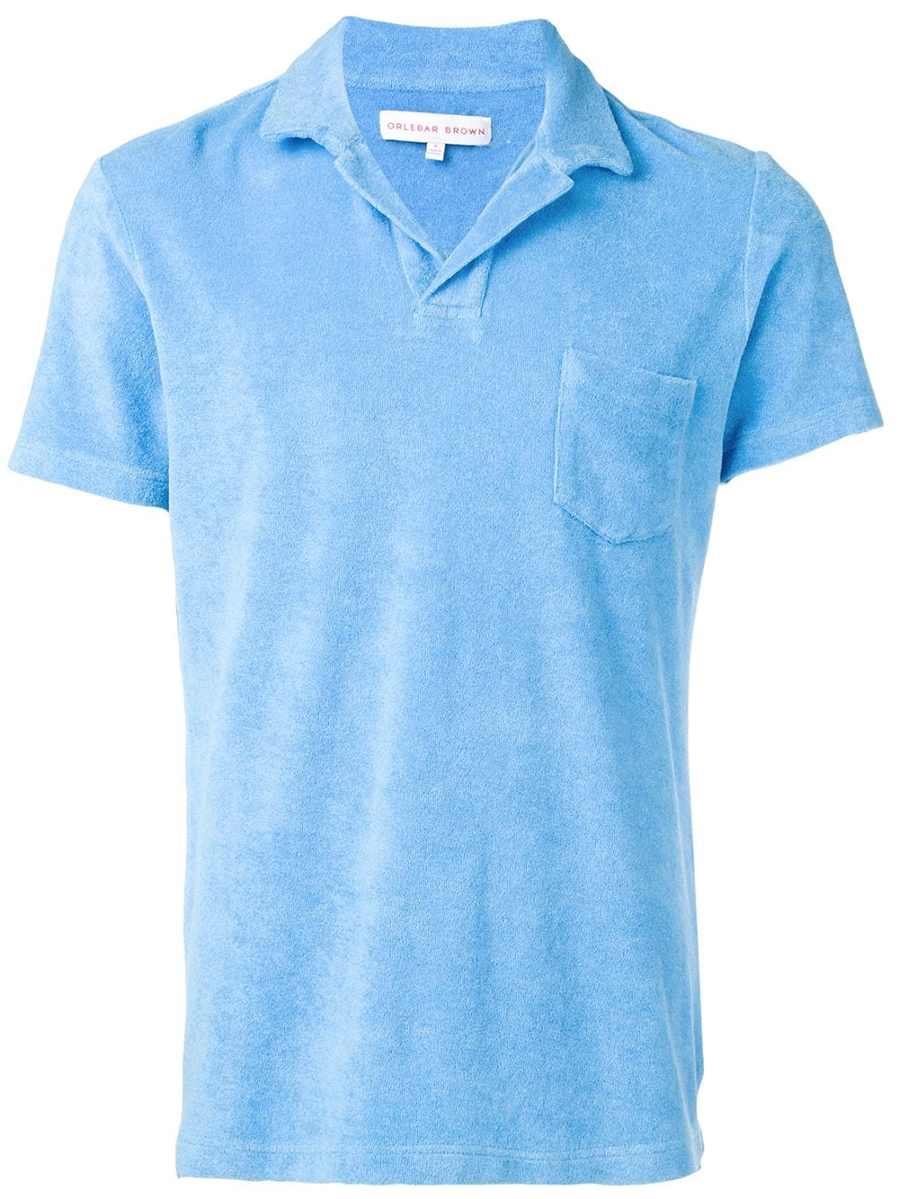 Orlebar Brown Poloshirt mit Tasche - Blau