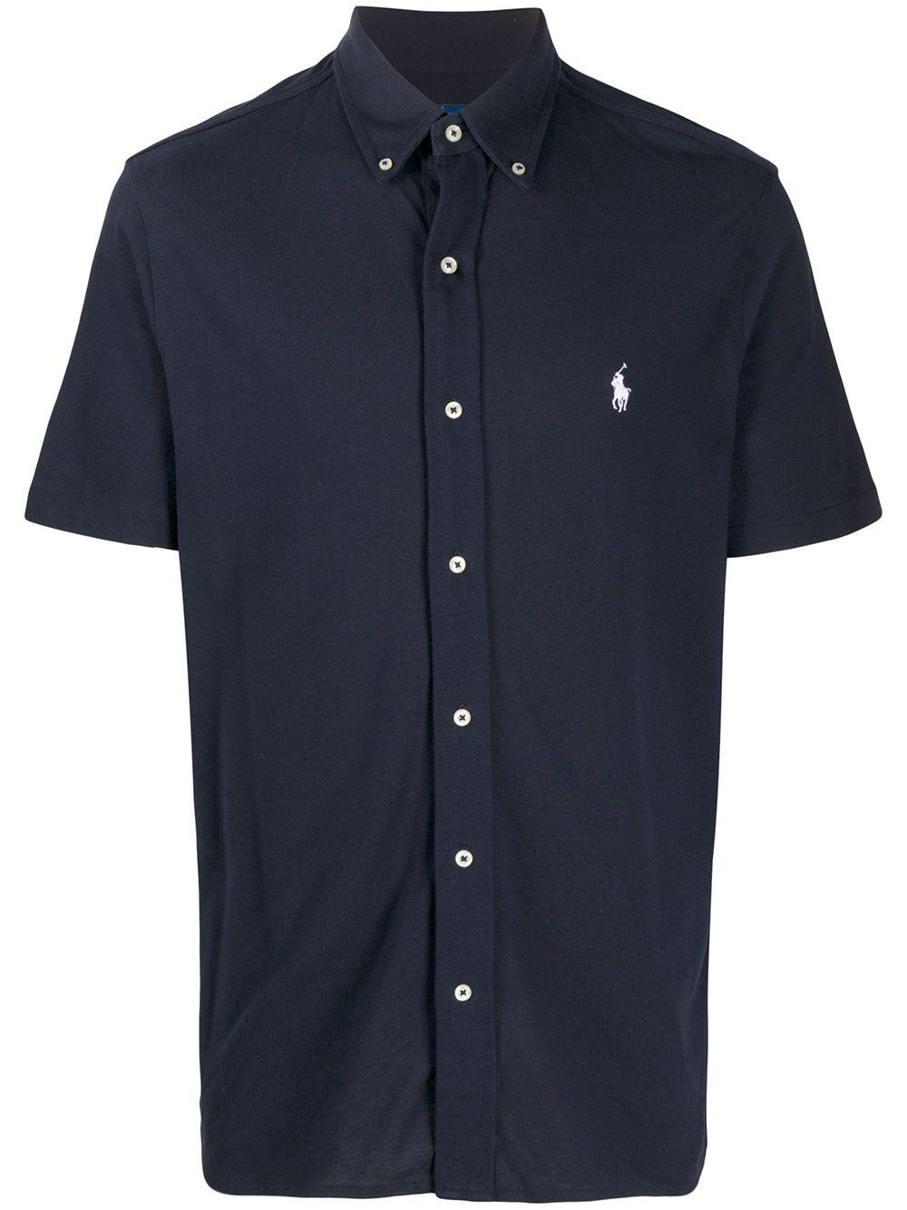 Polo Ralph Lauren Poloshirt mit Knopfleiste - Blau